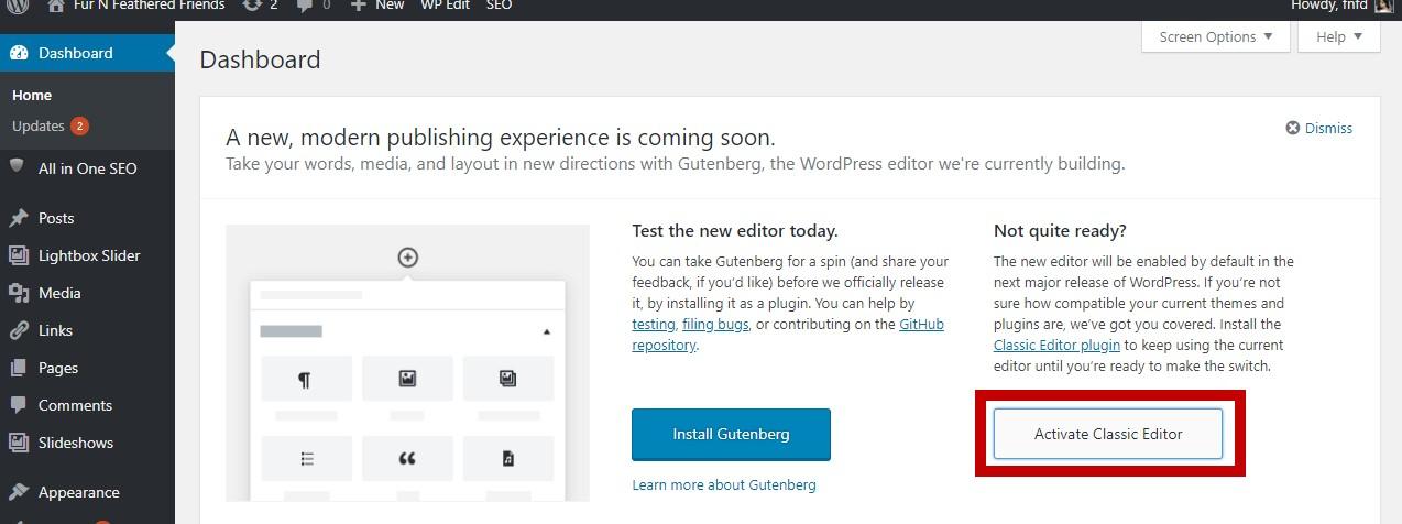 Gutenberg-Classic Editor 2